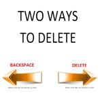 2 ways to delete
