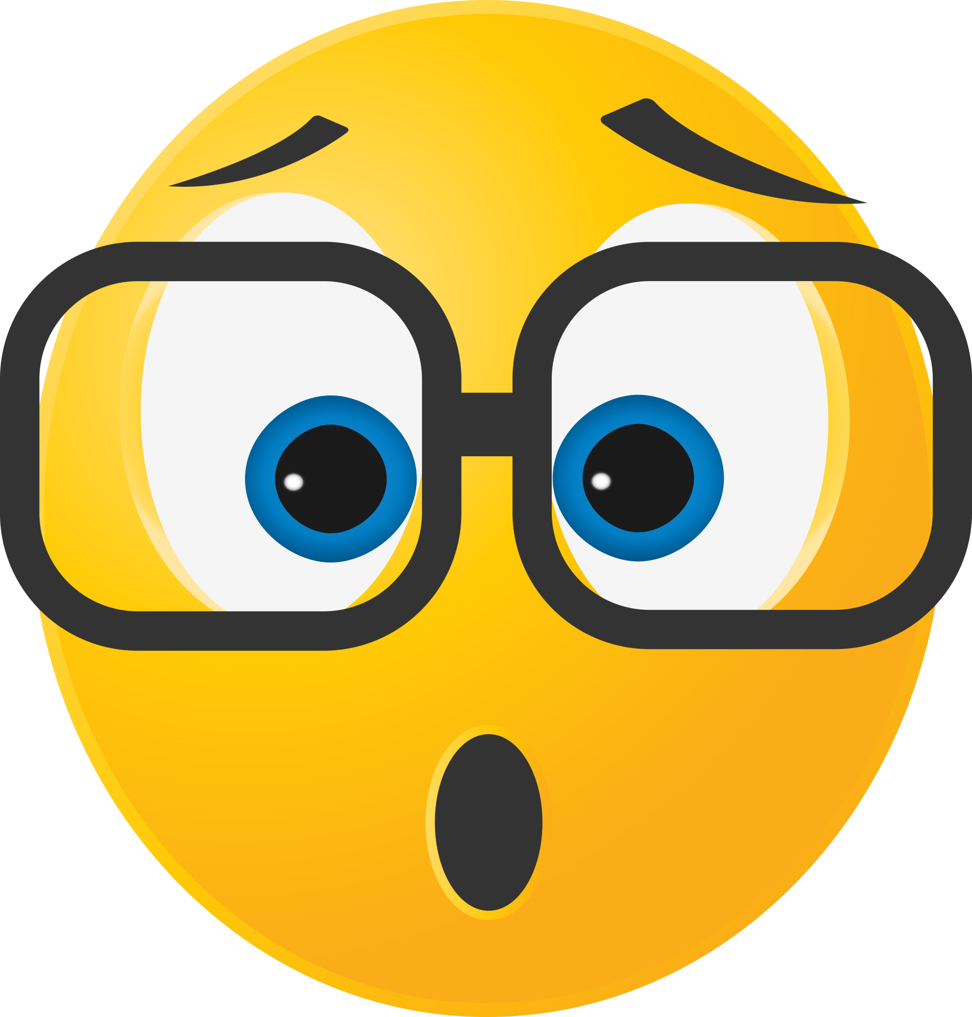 surprised smiley with glasses | Ask a Tech Teacher