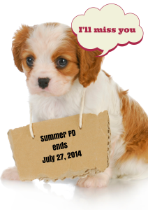 Summer PD Ends