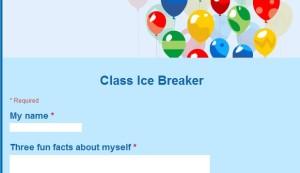 class ice breakers