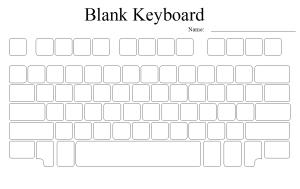 Blank keyboard