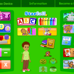 Log-in screen