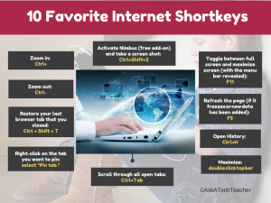internet shortkeys