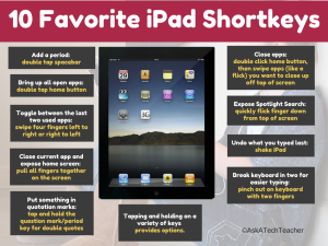 ipad shortkeys