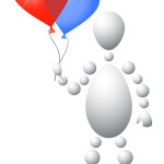 1022387 man present blue and red balloons