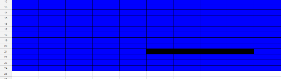 battleships in Google Sheets