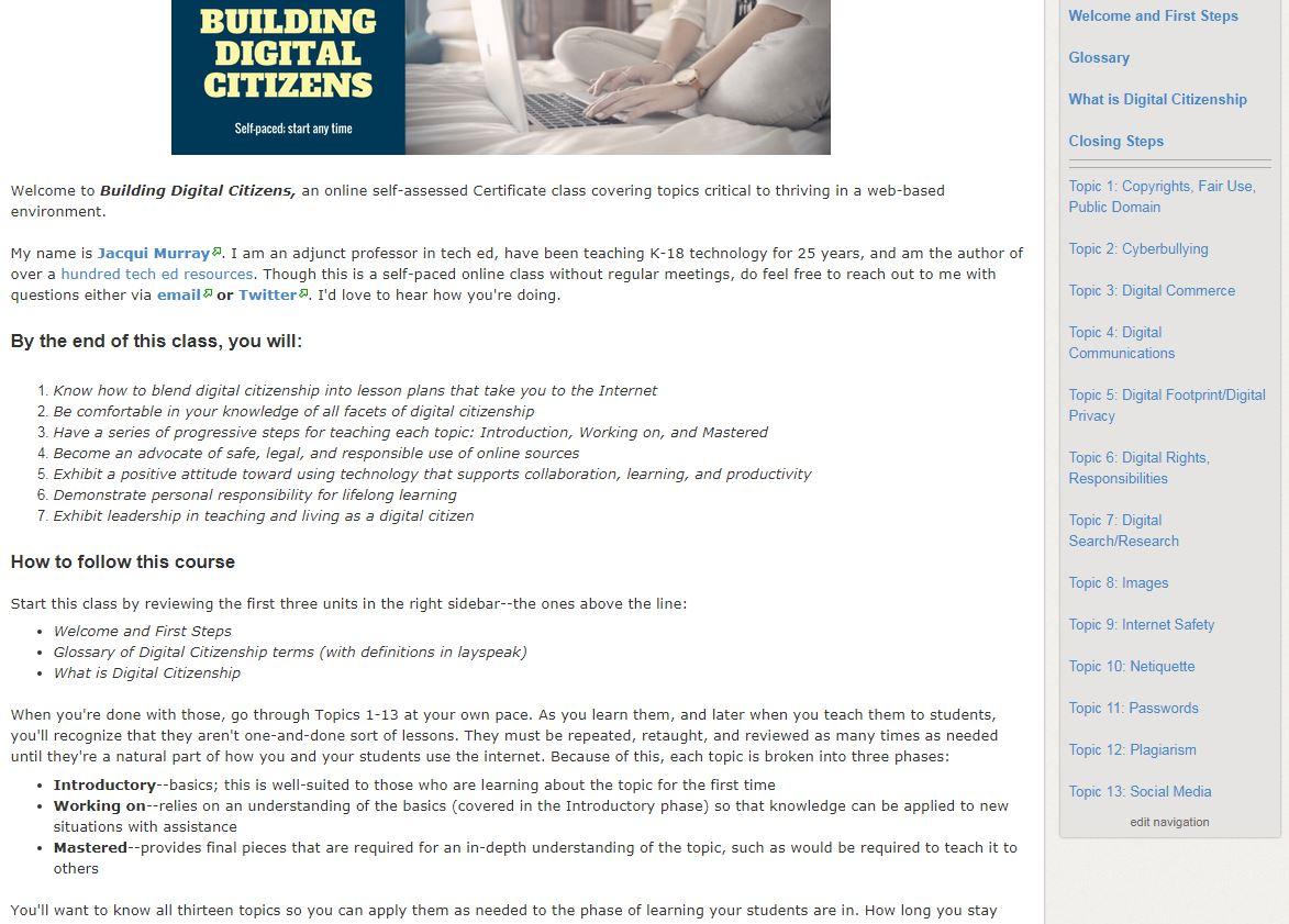 Building digital citizensthe class ask a tech teacher from sept fandeluxe Gallery