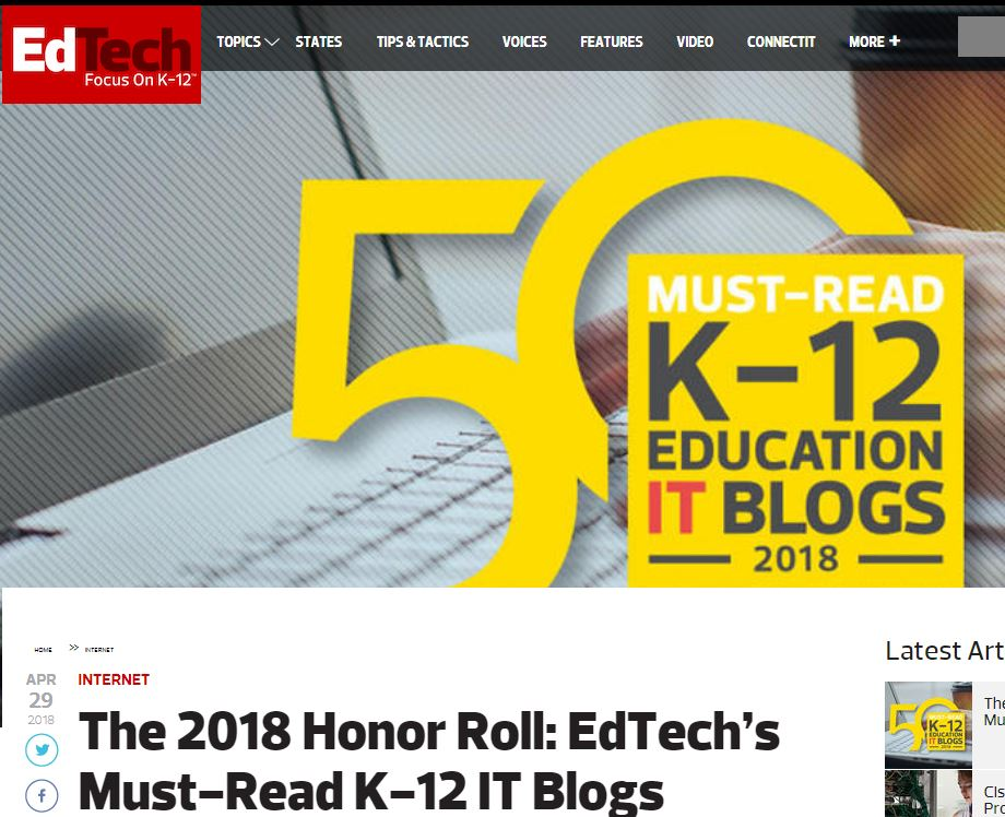 top 50 edtech blogs