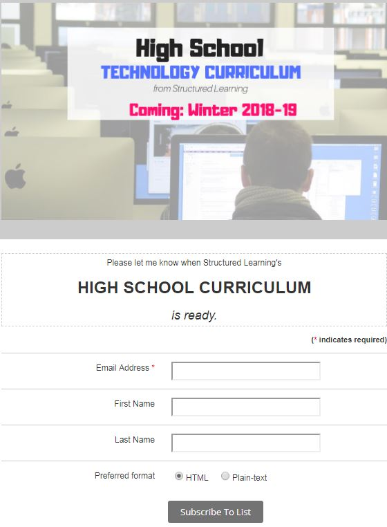 high school tech curriculum